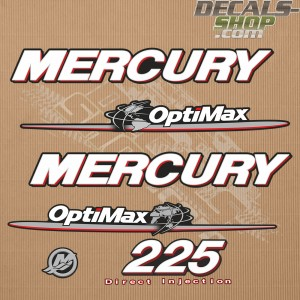 Mercury 225HP Optimax Direct Injection Outboard Decal Kit