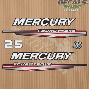 Mercury 25HP Four Stroke 2013-2017 Outboard Decal Kit