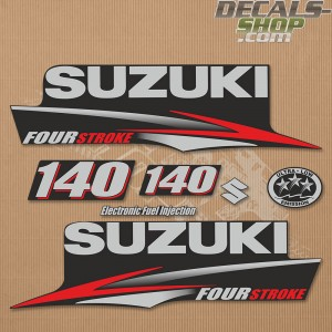 Suzuki DF140 140hp Four Stroke - 2010 - 2013 Outboard Decal Kit
