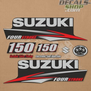 Suzuki DF150 150hp Four Stroke - 2010 - 2013 Outboard Decal Kit