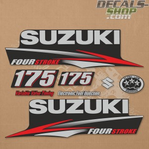 Suzuki DF175 175hp Four Stroke - 2010 - 2013 Outboard Decal Kit