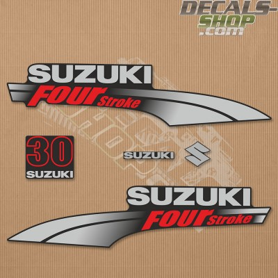 Suzuki DF30 30hp Four Stroke - 2003 - 2009 Outboard Decal Kit