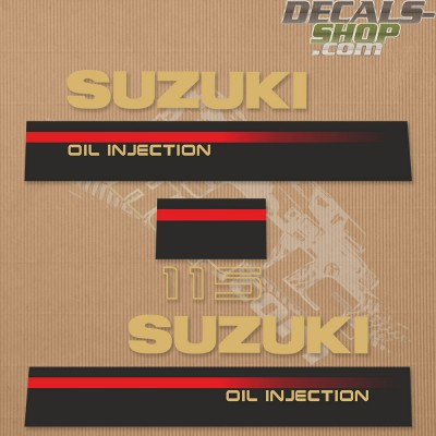 Suzuki DT115 115hp Two Stroke Outboard Decal Kit 1995-1997