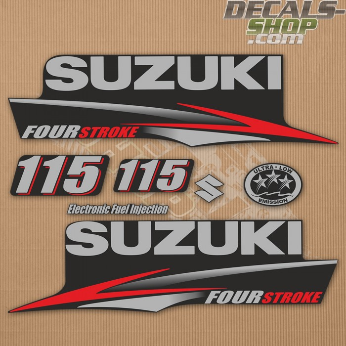 Suzuki DF115 115hp Four Stroke - 2010 - 2013 Outboard Decal Kit