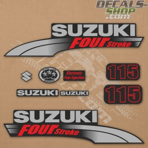 Suzuki DF115 115hp Four Stroke - 2003 - 2009 Outboard Decal Kit