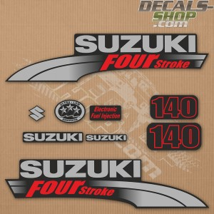 Suzuki DF140 140hp Four Stroke - 2003 - 2009 Outboard Decal Kit