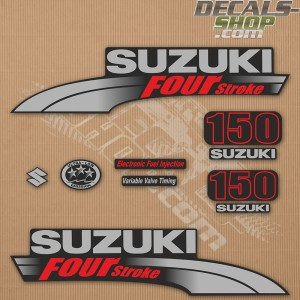 Suzuki DF150 150hp Four Stroke - 2003 - 2009 Outboard Decal Kit