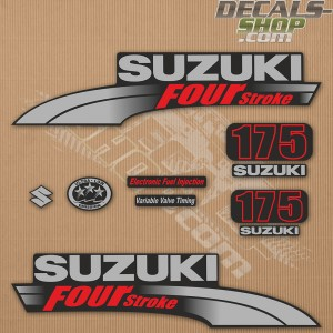 Suzuki DF175 175hp Four Stroke - 2003 - 2009 Outboard Decal Kit