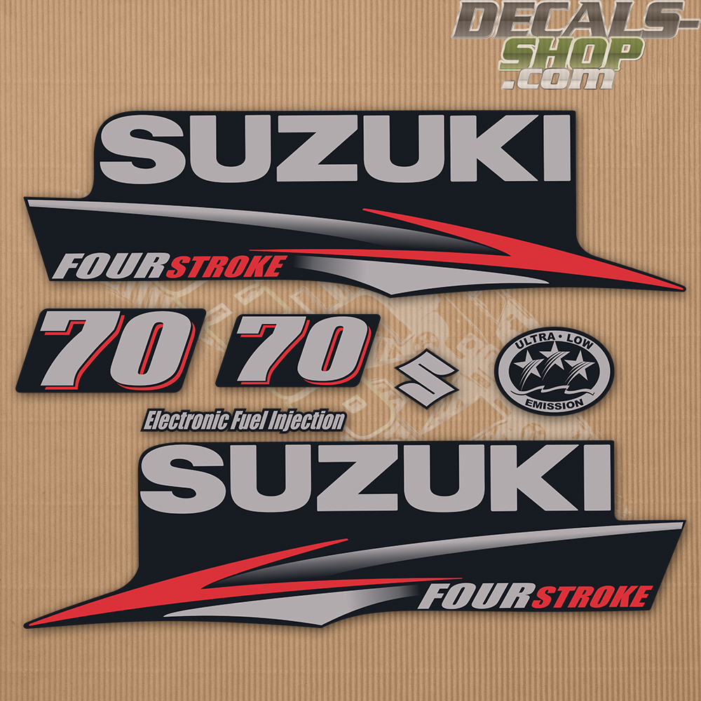 Suzuki DF70 70hp Four Stroke - 2010 - 2013 Outboard Decal Kit