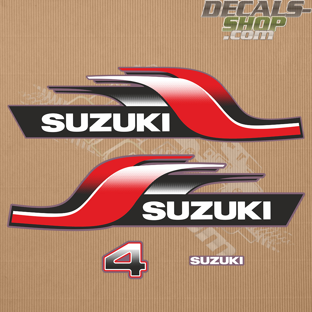 Suzuki DT4 4hp Two Stroke 1998 Outboard Decal Kit
