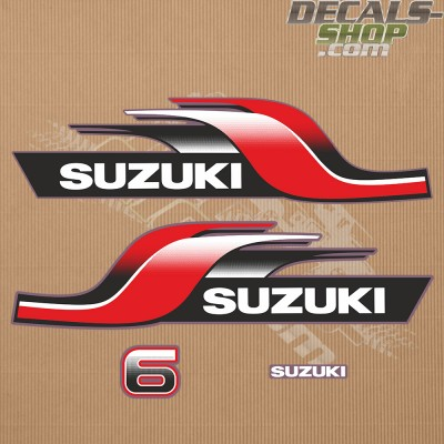 Suzuki Dt6 6hp Two Stroke 1998 Outboard Decal Kit