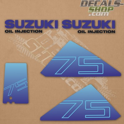 Suzuki Dt75 75hp Oil Injected Outboard Decal Kit
