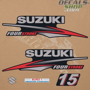Suzuki DF15 15hp Four Stroke - 2010 - 2013 Outboard Decal Kit