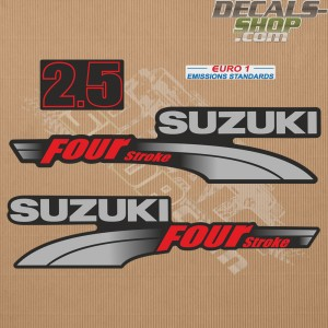 Suzuki DF2.5 2.5hp Four Stroke - 2003 - 2009 Outboard Decal Kit