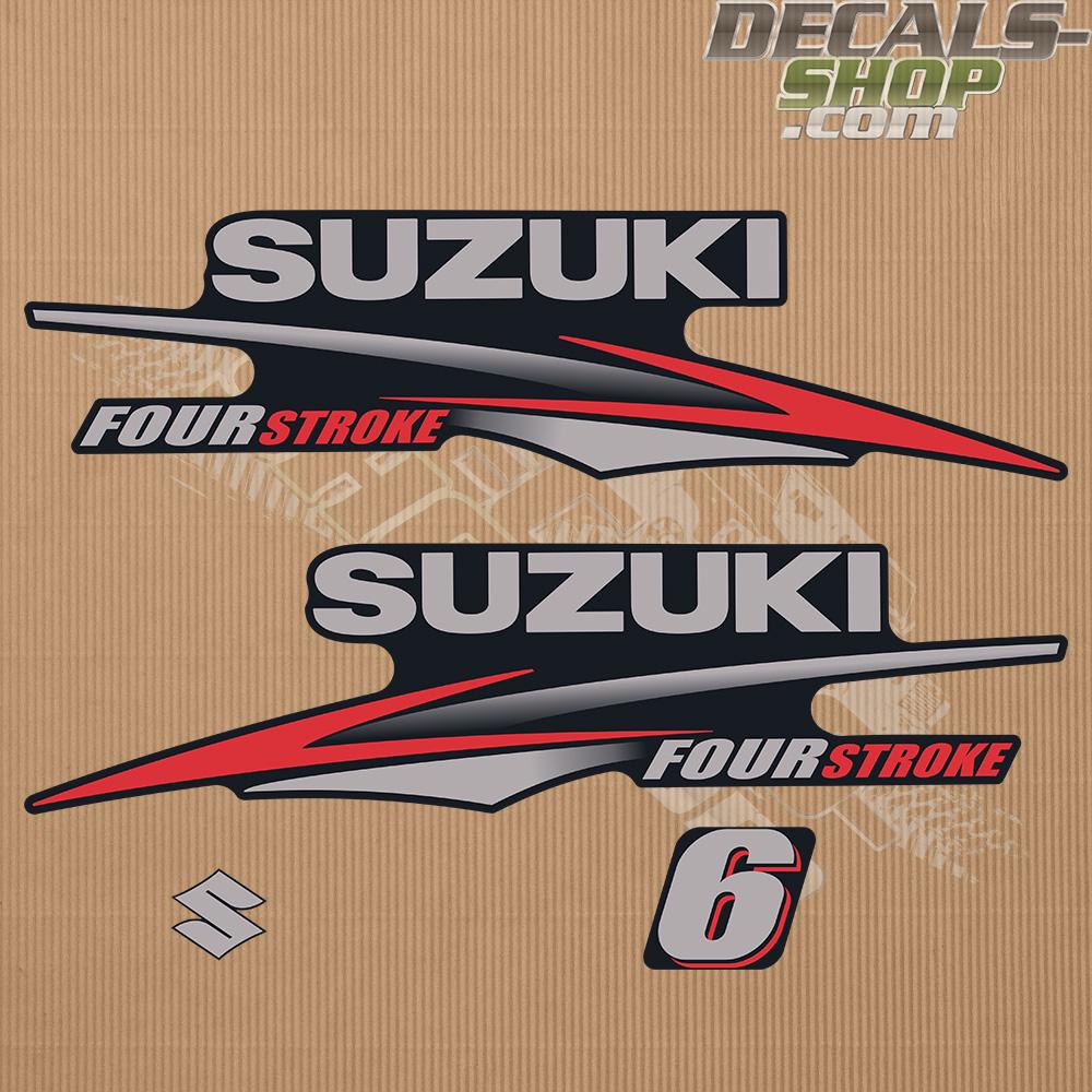 Suzuki Df6 6hp Four Stroke 2010 2013 Outboard Decal Kit