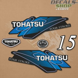 Tohatsu 15HP Four Stroke Outboard Decal Set