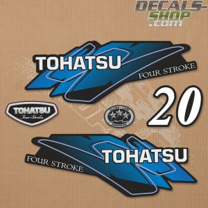 Tohatsu 20HP Four Stroke Outboard Decal Set