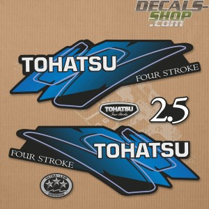 Tohatsu 2.5HP Four Stroke Outboard Decal Set