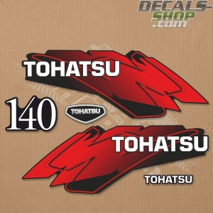 Tohatsu 140HP Two Stroke Outboard Decal Kit