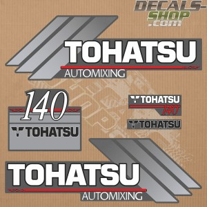 Tohatsu 140HP Automixing Outboard Decal Kit