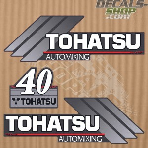 Tohatsu 40HP Automixing Outboard Decal Kit