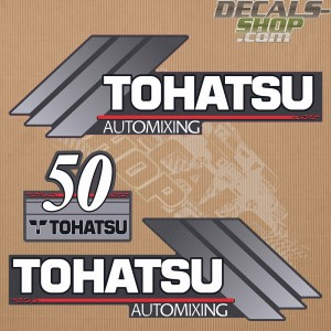 Tohatsu 50HP Automixing Outboard Decal Kit