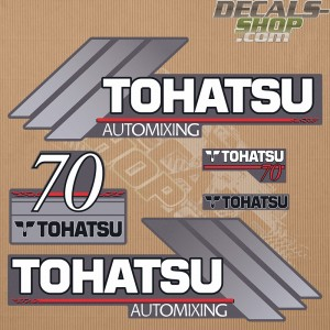 Tohatsu 70HP Automixing Outboard Decal Kit