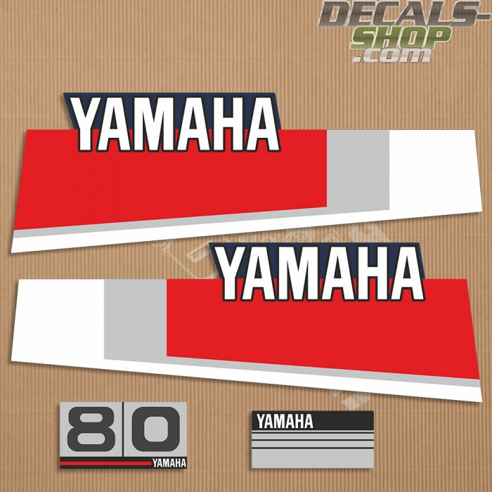 Yamaha 80HP Two Stroke 80's Outboard Decal Kit