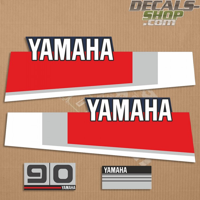 Yamaha 90HP Two Stroke 80's Outboard Decal Kit