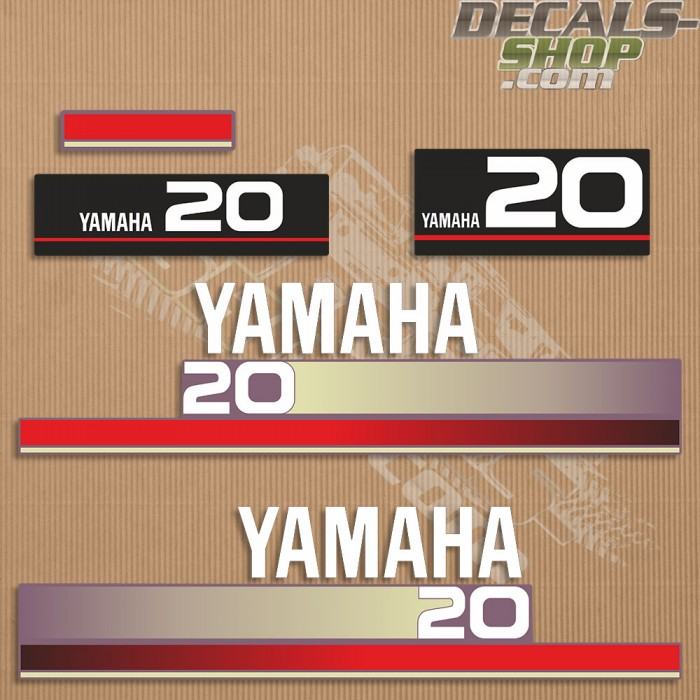 Yamaha 20HP Two Stroke 1996 Outboard Decal Kit
