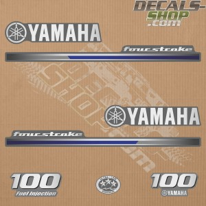 Yamaha 100HP Four Stroke 2013 Outboard Decal Kit