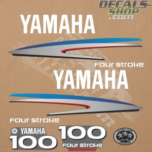 Yamaha 100HP Four Stroke Outboard Decal Kit