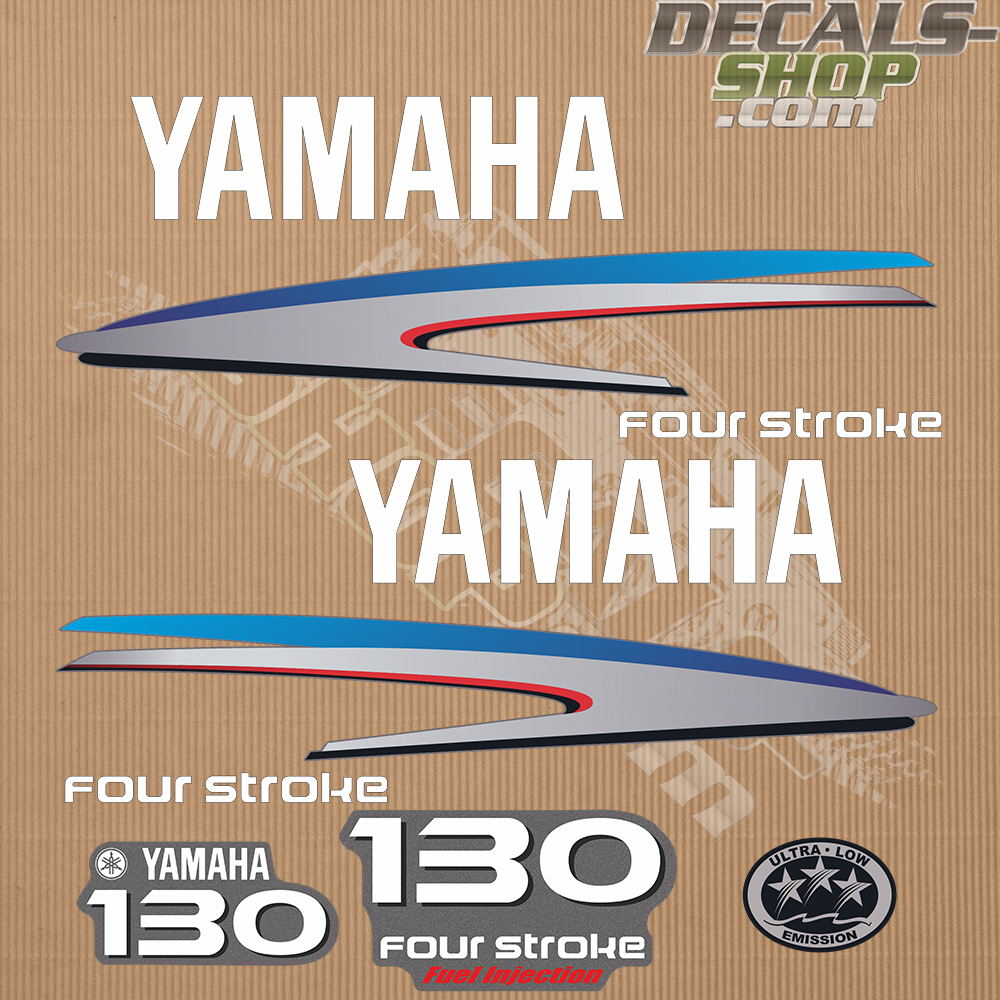 Yamaha130hp Four Stroke Outboard Decal Kit