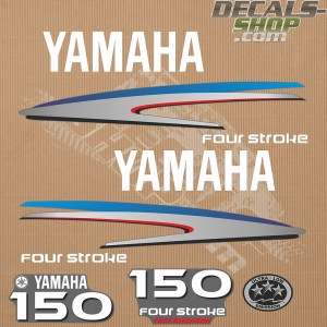 Yamaha 150HP Four Stroke Outboard Decal Kit