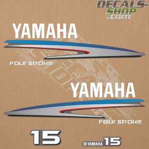 Yamaha 15HP Four Stroke Outboard Decal Kit