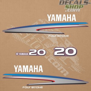 Yamaha 20HP Four Stroke Outboard Decal Kit