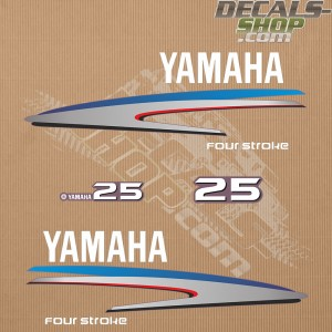 Yamaha 25HP Four Stroke Outboard Decal Kit