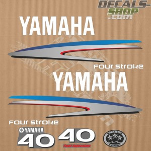Yamaha 40HP Four Stroke Outboard Decal Kit