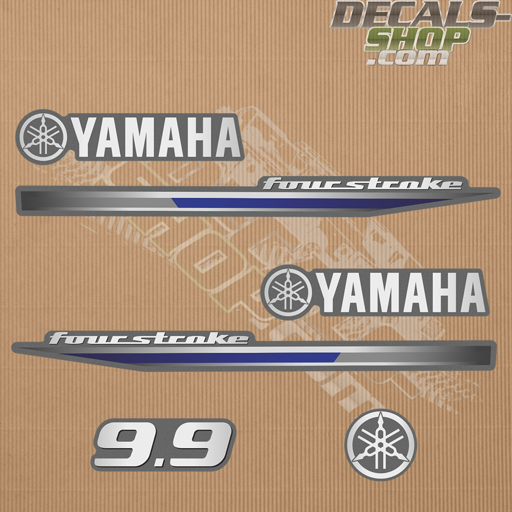 Yamaha 9 9hp Four Stroke 2013 Outboard Decal Kit