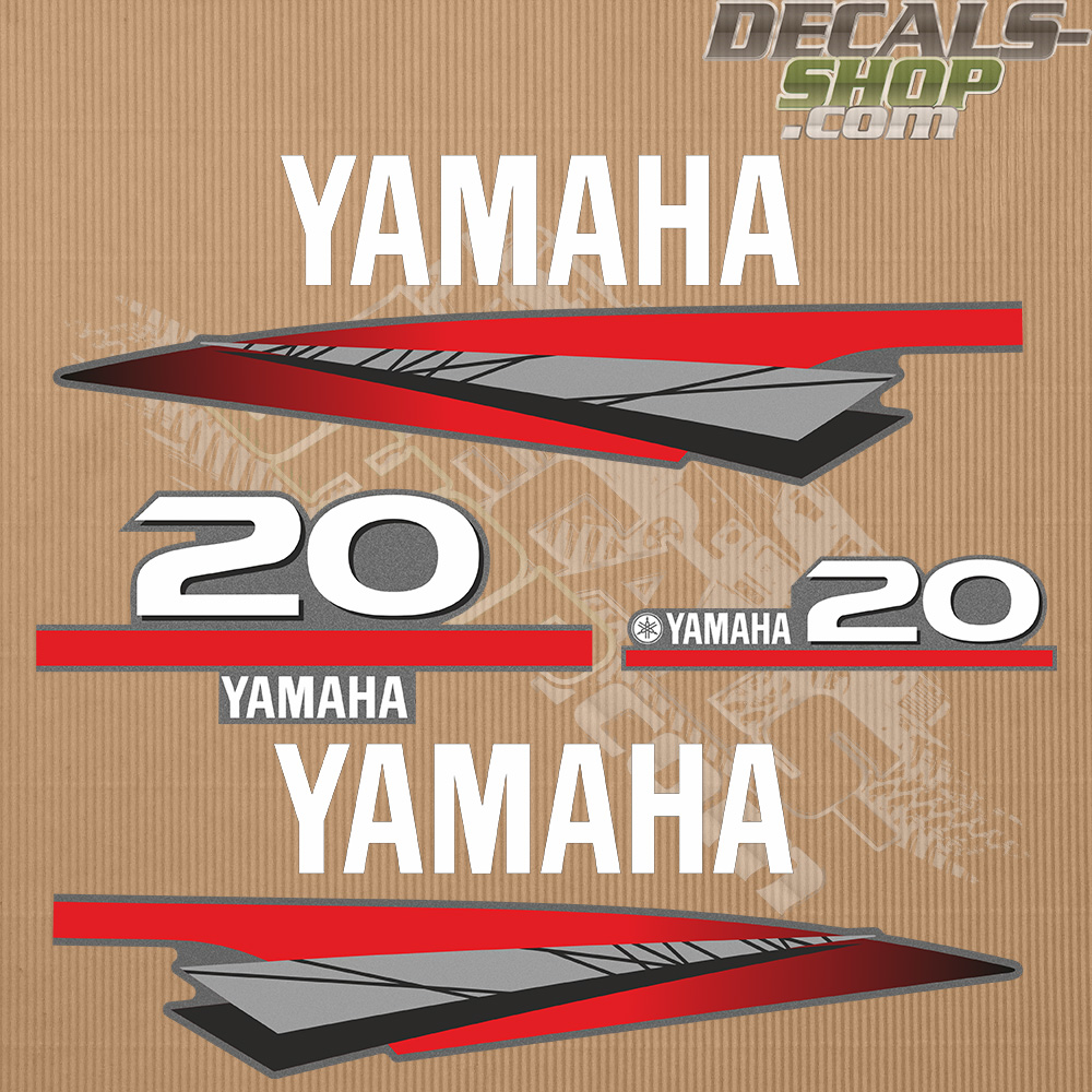 Yamaha 20HP Two Stroke Outboard Decal Kit