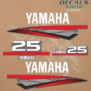 Yamaha 25HP Two Stroke Outboard Decal Kit