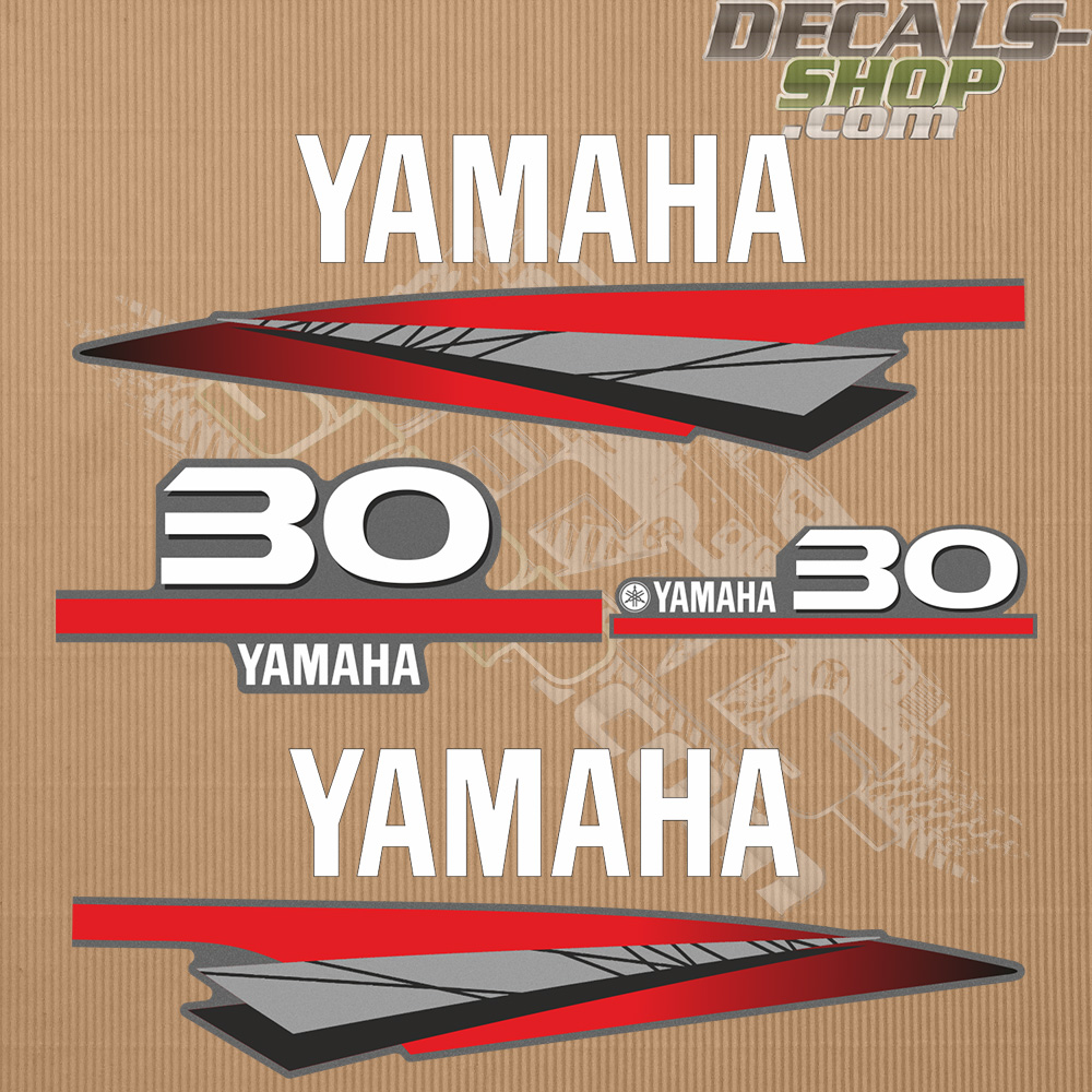 Yamaha 30hp two stroke outboard decal kit for Yamaha 30hp 2 stroke