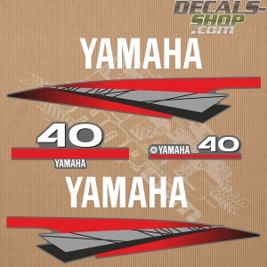 Yamaha 40HP Two Stroke Outboard Decal Kit
