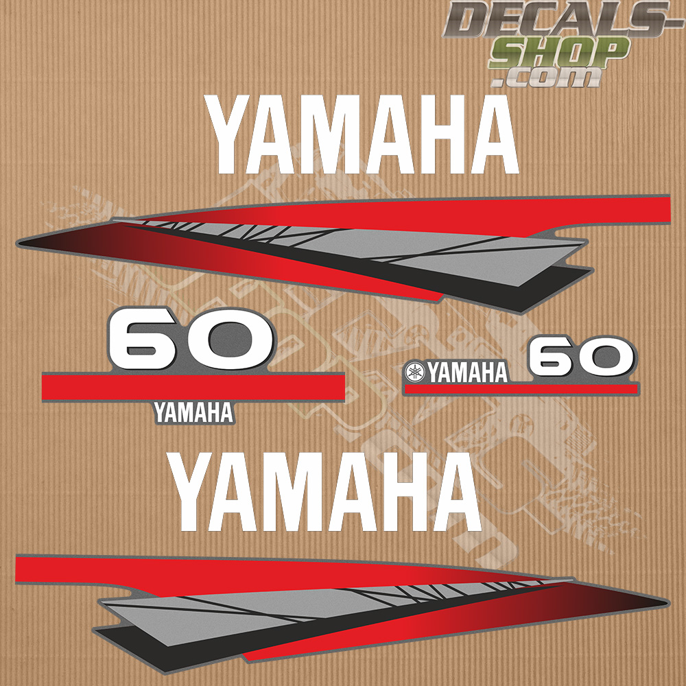 Yamaha 60hp Two Stroke Outboard Decal Kit