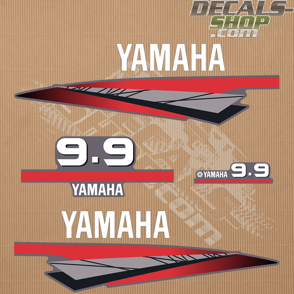 Yamaha 9 9hp Two Stroke Outboard Decal Kit